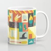 harry potter Mugs featuring King's Cross - Harry Potter by Ariel Wilson