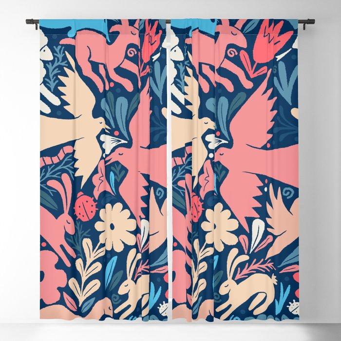Nursery rhyme garden 002 Blackout Curtain