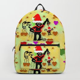 Santa with friends and season love Backpack