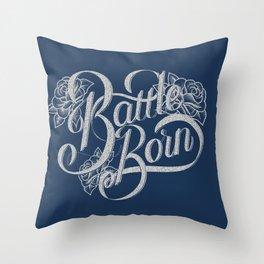 Battle Born - Silver & Blue Throw Pillow