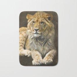 The young lion Bath Mat