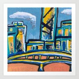 Brisbane City Painting Art Print