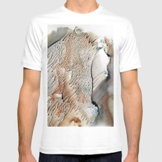 cliff of trees - watercolor monotype Mens Fitted Tee White MEDIUM