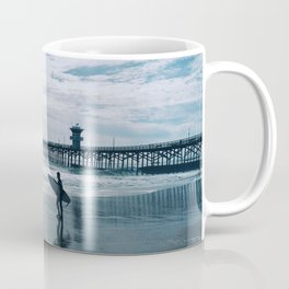 Surfer - evening surfing in SoCal Coffee Mug