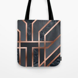 Dark Grey Art Deco Tote Bag