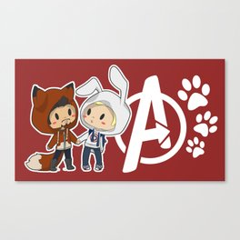 Fox & Bunny Canvas Print