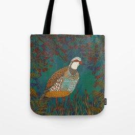 Partridge in Hedgerow Tote Bag