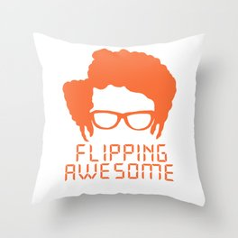 Flipping Awesome Throw Pillow