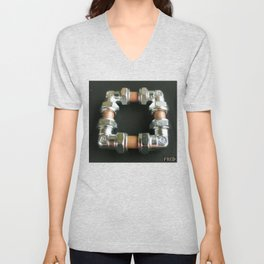 Copper and Chrome Smart Art - FredPereiraStudios.com_Page_09 Unisex V-Neck