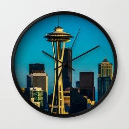 Evening in Seattle Wall Clock