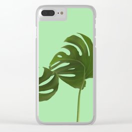 Monstera madness V Clear iPhone Case