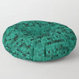 Green knitted textiles Floor Pillow