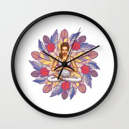 Feathers Meditation | Peaceful Art Wall Clock
