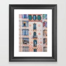 Surreal house in Barcelona. Framed Art Print