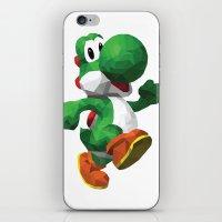 yoshi iPhone & iPod Skins featuring Yoshi Geometric by Sharna Myers