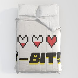 Retro 8-Bit Logo Comforters
