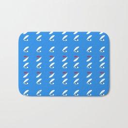 Abstract Petals White Blue #pattern #design #style #home #decor #kirovair Bath Mat