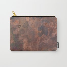Tarnished, Stained and Scratched Copper Metal Texture Industrial Art Carry-All Pouch