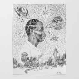 """Astroworld"" by Mauri Poster"