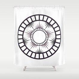 Minimalist Radial mandala Shower Curtain