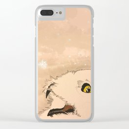 Hedwig Snow Owl Clear iPhone Case