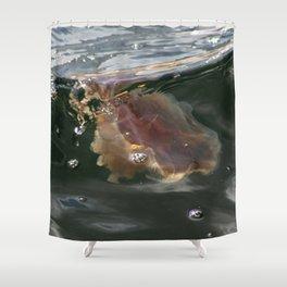 Surfing Jellyfish Shower Curtain