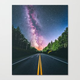 Milky Way at US Road (USA) Canvas Print