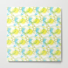 Swirls & Circles Metal Print