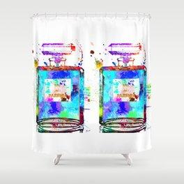 Parfum Blue Shower Curtain
