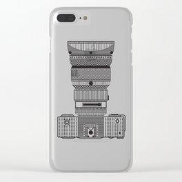 D.S.L.R. (B & W) Clear iPhone Case