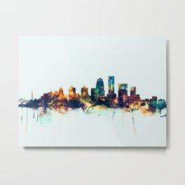 Louisville Kentucky City Skyline Metal Print