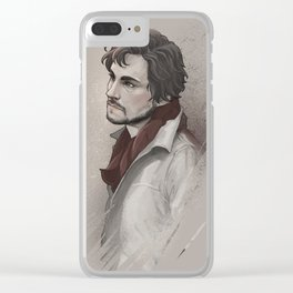 Soft snow Clear iPhone Case
