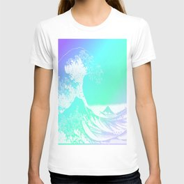 The Great Wave Purple Mint Aqua T-shirt