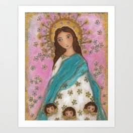Immaculate Conception with Angels Art Print