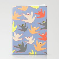 sloths Stationery Cards featuring Print with sloths by Darish