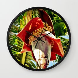 Banana Flower Wall Clock