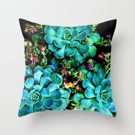 Beautiful Autumn Plant green, blue Throw Pillow