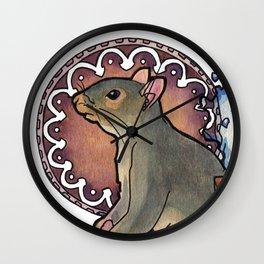 Citrine Splash Wall Clock