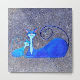 Cat Painting 05 Metal Print