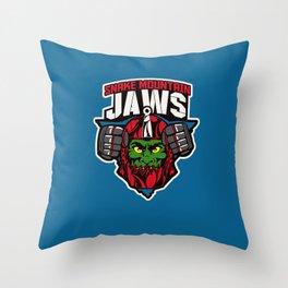 Snake mountain Jaws Throw Pillow