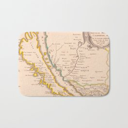 Vintage Map of California (1657) Bath Mat