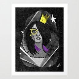 Diamond girl Art Print
