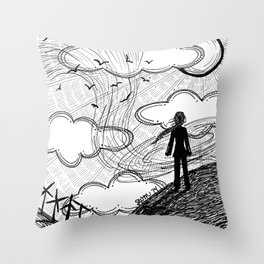 Facing the Wind Throw Pillow