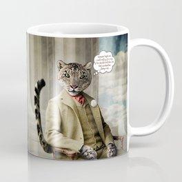 Sir Sebastian Snow Leopard Coffee Mug