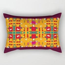 Basic Yellow Rectangular Pillow