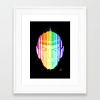 spock Framed Art Prints featuring Spock by Leif Jones