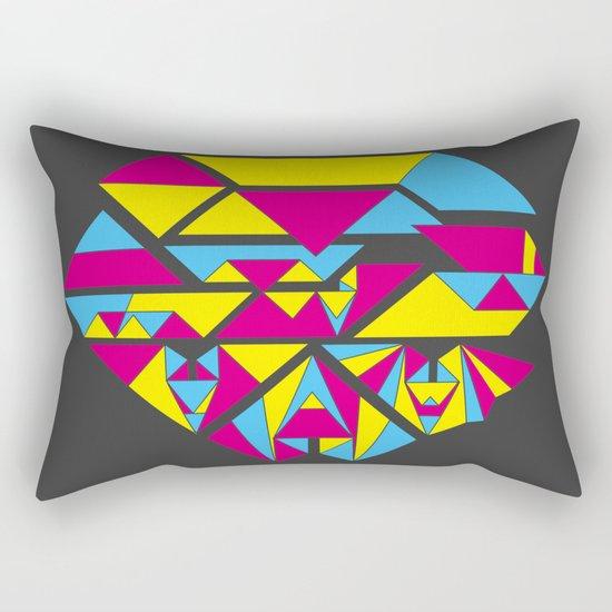 Bat origami Rectangular Pillow