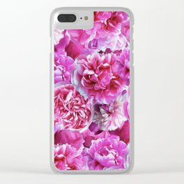 Lovely pink peonies Clear iPhone Case