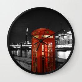 English Red Phone Box Wall Clock