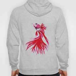 Red Fish - watercolor illustration  Hoody
